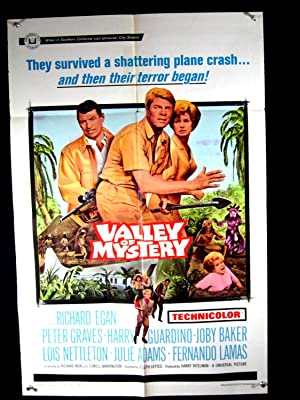 VALLEY OF MYSTERY-1967-POSTER-RICHARD EGAN-ADVENTURE VG