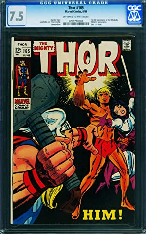 THOR #165 CGC 7.5 ow/w First full appearance of HIM / WARLOCK 0246710001