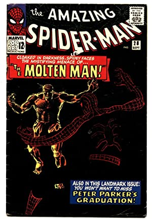 Amazing Spider-Man #28 comic book First MOLTEN MAN 1965 Marvel Silver Age