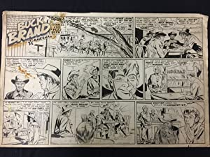 Buck Brand Frontier Marshall Sunday Newspaper Original Comic Art Henri Arnold