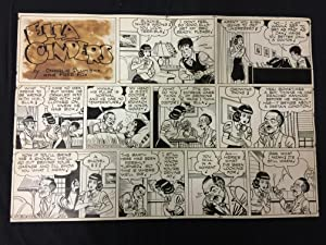 Ella Cinders Sunday Newspaper Original Comic Strip Art October 9 1949