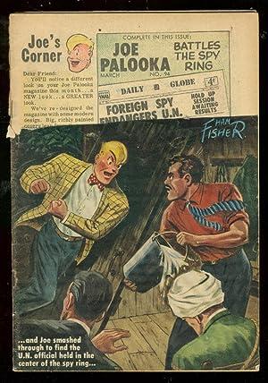 JOE PALOOKA #95 1956-HARVEY COMICS-HAM FISHER-SPY ISSUE