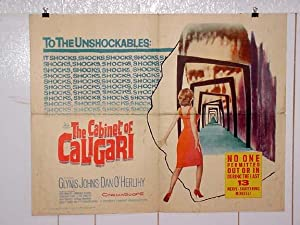 CABINET OF CALIGARI-1962-COOL-HALF SHEET VG