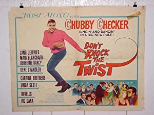 DON'T KNOCK THE TWIST-1962-CHECKER-HALF SHEET VG