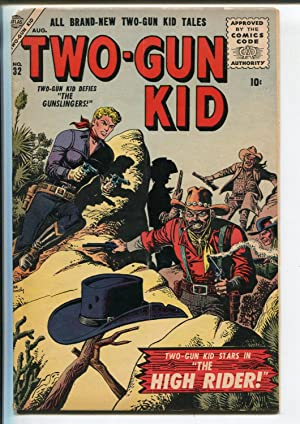 TWO-GUN KID #32-1956-ATLAS-JOE MANEELY COVER-vg