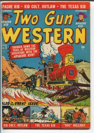 TWO GUN WESTERN #8-1951-ATLAS-APACHE KID-DOC HOLIDAY-KID COLT-TEXAS KID-vg minus