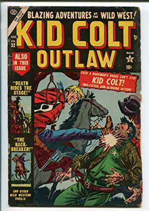 KID COLT OUTLAW #32-1953-ATLAS-HANGING COVER-GEORGE TUSKA ART-vg