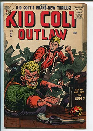 KID COLT OUTLAW #67-1956-ATLAS-JOE MANEELY COVER-JACK DAVIS-fn