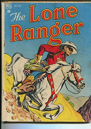 LONE RANGER #4 1948-DELL-SILVER-NEWSPAPER STRIP-fr/good