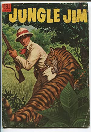 JUNGLE JIM #1 1953-DELL-FOUR COLOR COMICS-1ST ISSUE-TIGER COVER-good/vg