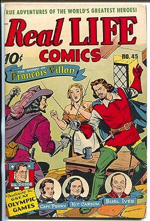 Real Life #45 1948-Nedor-Burl Ives-Jesse Owens-Jim Thorpe-VG-