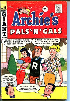 Archie's Pals 'n' Gals #10 1959-MLJ-Betty-Veronica-Giant issue-VG-