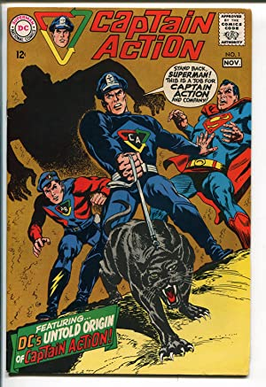 CAPTAIN ACTION #1 1968-DC COMICS-1ST ISSUE-SUPERMAN-WALLY WOOD-vf+