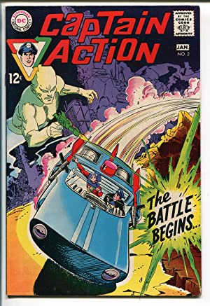 CAPTAIN ACTION #2 1968-DC COMICS-BLACK COVER-GIL KANE-WALLY WOOD-vf+