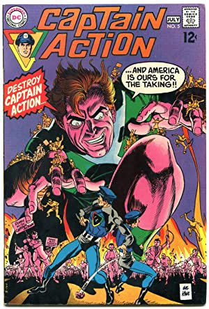 CAPTAIN ACTION #5 1968-DC COMICS-WALLY WOOD INKS-vf/nm