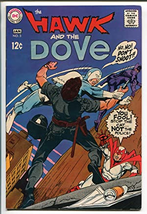 HAWK AND THE DOVE #3 1969-DC COMICS-GIL KANE ART-fn