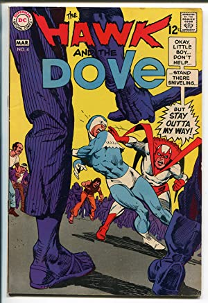 HAWK AND THE DOVE #4 1969-DC COMICS-GIL KANE ART-fn/vf