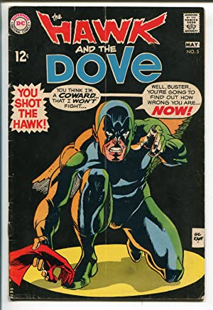 HAWK AND THE DOVE #5 1969-DC COMICS-GIL KANE-BLACK COVER-TEEN TITANS-vg