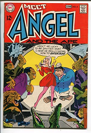 MEET ANGEL AND THE APE #4 1969-DC COMICS-WALLY WOOD ART-LAST 12¢-vf minus