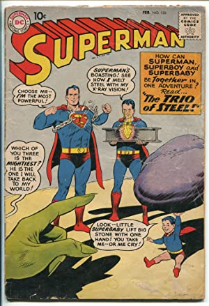 SUPERMAN #135 1960-DC COMICS-SUPERBOY-SUPERBABY-fr/good