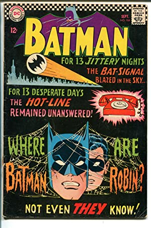 BATMAN #184 1966-DC COMICS-BAT SIGNAL-vg minus