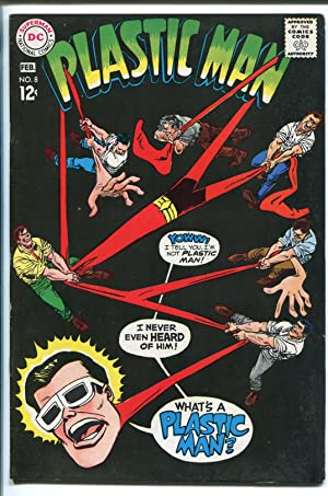 PLASTIC MAN #8 1968-DC COMICS-BLACK COVER-vf minus