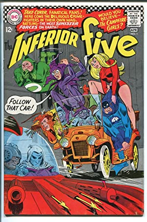 INFERIOR FIVE #1 1967-DC COMICS-1ST ISSUE-BAT MAN-CHARLIE CHAPLIN-fn+
