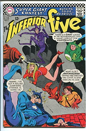 INFERIOR FIVE #2 1967-DC COMICS-MIKE SEKOWSKY-PLASTIC MAN-HUMAN TORCH-vf-