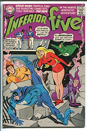 INFERIOR FIVE #5 1967-DC COMICS-GUILLOTINE PANEL-WACKY HUMOR-RON ELY-fn+