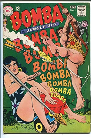 BOMBA THE JUNGLE BOY #4 1967-DC COMICS-GOOD GIRL ART COVER-fn+