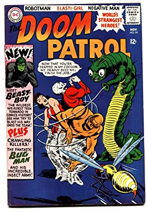 Doom Patrol #99 FN/VF comic book 1965 DC First Beast Boy- Suicide Squad