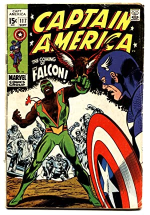 CAPTAIN AMERICA #117 comic book 1969-1st FALCON-Marvel VG