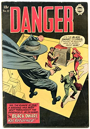 Danger #12 1964-Super Golden Age reprints- Black
