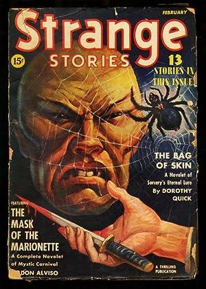 STRANGE STORIES 1940 FEB-ASIAN MENACE-SPIDER-COVER G/VG