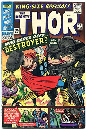THOR ANNUAL #2-THE DESTROYER!-MARVEL-JACK KIRBY-SILVER AGE fn+