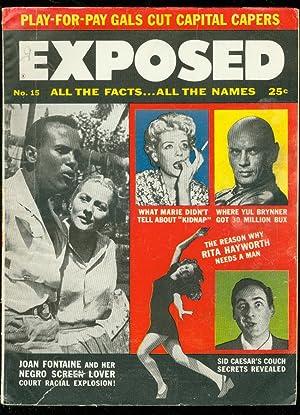 EXPOSED JUNE 1957-TV/GOSSIP-JOAN FONTAINE'S BLACK LOVER VG