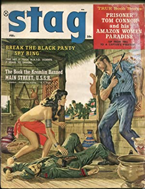 Stag 2/1960-Atlas-pulp fiction-cheesecake-jungle girl-WWII-tommy gun-A-Bomb-FR