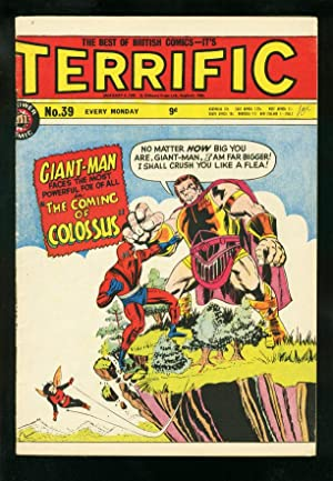 TERRIFIC COMICS #39 1965--BRITISH MARVEL COMIC-COLOSSUS-GIANT MAN-AVENGERS VG/FN
