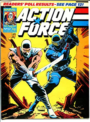 Action Force #22 1987-Marvel-Violent-British GI Joe-Cobra-VF