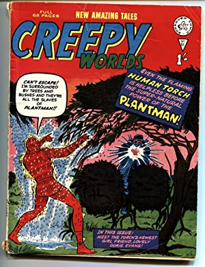 CREEPY WORLDS #51-KIRBY ART SUPERHERO AND HORROR-UK COMIC