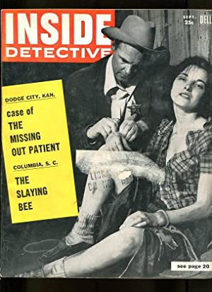 INSIDE DETECTIVE-09/1956-OUT PATIENT-SLAYING-CARBON-HANGMAN-ROPE-CRIME VG