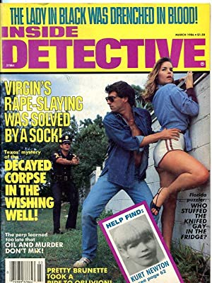INSIDE DETECTIVE-03/86-DECAYED CORPSE-LADY IN BLACK-RAPE-SLAYING FN/VF
