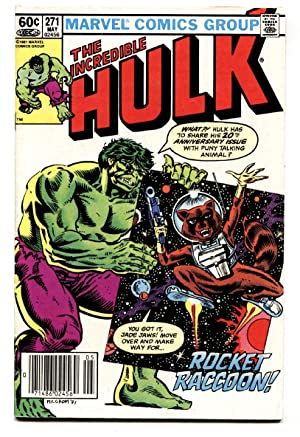 Incredible Hulk #271-comic book 1st Rocket Raccoon! GOTG! marvel key FN