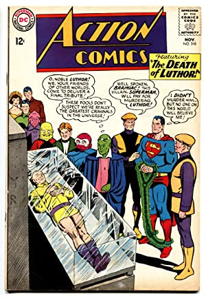 ACTION COMICS #318 comic book 1964-SUPERMAN-DEATH OF LUTHOR!!! FN/VF