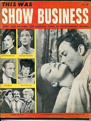 THIS WAS SHOW BUSINESS 1956-MARX BROS-JACK BENNY-VALENTINO-AL
