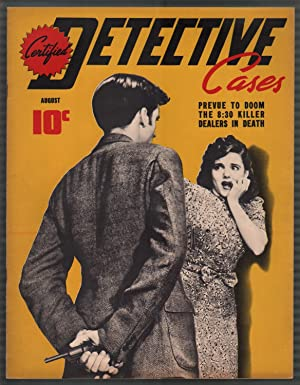 Certified Detective Cases #3 8/1940-terrified lady-corpse-lurid-violent pulp-VF