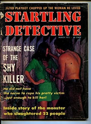 STARTLING DETECTIVE-MARCH-1973-FR/GD-PLAYBOY KILLER-SERIAL KILLER-RAPIST FR/G