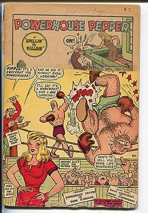 POWERHOUSE PEPPER #3 1948-TIMELY-BASIL WOLVERTON ART-SCARCE ISSUE-fr