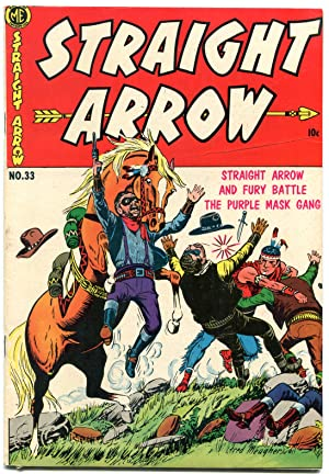 Straight Arrow #33 1953-Golden Age Western-FRED MEAGHER F/VF
