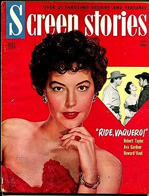 Screen Stories 8/1953-Dell-Rita Hayworth-Ava Gardner-Susan Hayward--VG